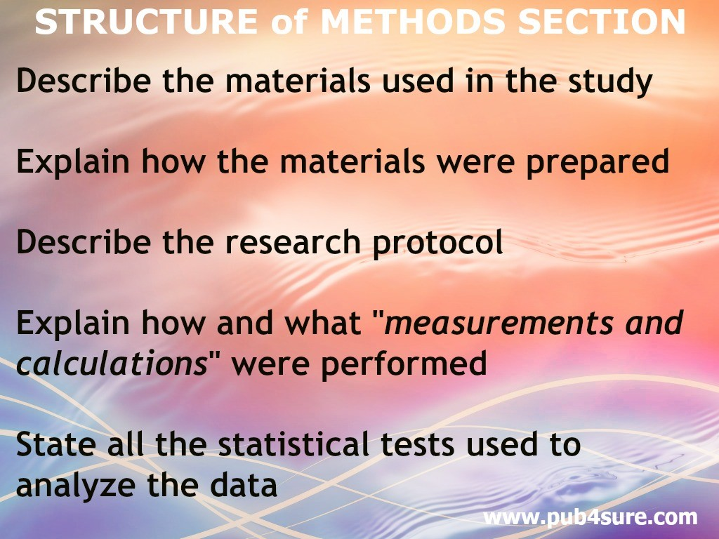 Research methodology structure